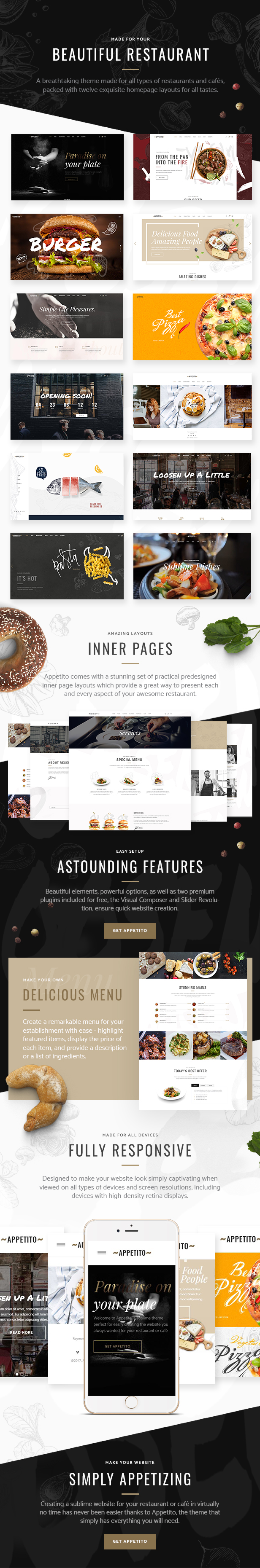 Appetito - Fast Food Restaurants & Cafés Theme - 1